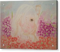 Acrylic Print featuring the painting Little Dreamer by Brindha Naveen