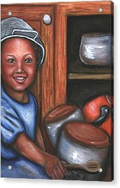 Acrylic Print featuring the mixed media Little Drummer Boy by Alga Washington