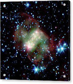 Little Dumbbell Nebula Acrylic Print by Nasa/jpl-caltech/j. Hora (harvard-smithsonian Cfa)