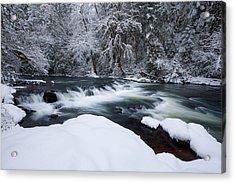 Little Fall Creek Winter Acrylic Print