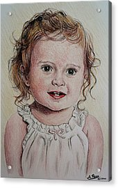 Little Girl Acrylic Print by Andrew Read