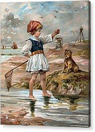 Little Girl At The Beach Acrylic Print