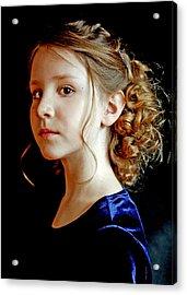Little Girl Blue Acrylic Print by Jon Van Gilder