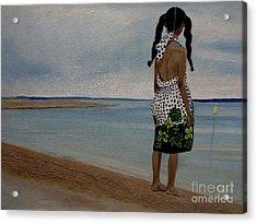 Little Girl On The Beach Acrylic Print