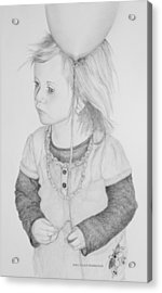 Little Girl With Balloon Acrylic Print