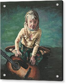 Little Girl With Guitar Acrylic Print