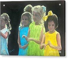 Little Girls Acrylic Print