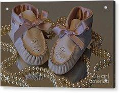 Little Girls To Pearls Acrylic Print by Sharon Elliott
