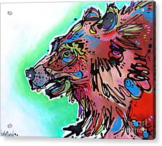 Acrylic Print featuring the painting Little Griz by Nicole Gaitan