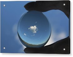 Little Heart Cloud Acrylic Print by Cathie Douglas