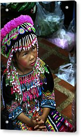 Little Hill Tribe Girl Acrylic Print