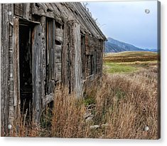 Little House On The High Plains Acrylic Print by Kathleen Bishop