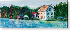 Little Houses  Acrylic Print by Anais DelaVega