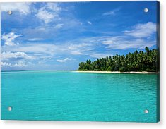 Little Islet In The Ant Atoll, Pohnpei Acrylic Print