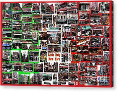 Little Italy Photo Collage Acrylic Print
