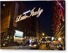 Little Italy Sign Acrylic Print by Ed Rooney
