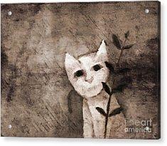 Little Kitten Acrylic Print by Lutz Baar