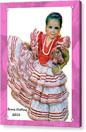 Acrylic Print featuring the painting Little Lidia by Bruce Nutting