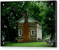 Little Log Cabin Acrylic Print by James C Thomas
