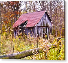 Little Lost Barn Acrylic Print