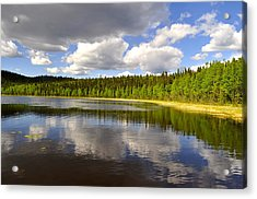 Acrylic Print featuring the photograph Little Lost Lake by Cathy Mahnke
