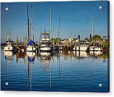 Acrylic Print featuring the photograph Little Marina by Pamela Blizzard