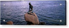 Little Mermaid Statue On Waterfront Acrylic Print by Panoramic Images