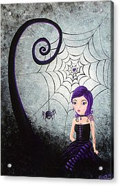 Little Miss Muffet Acrylic Print by Oddball Art Co by Lizzy Love