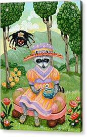 Little Miss Raccoon Muffett Acrylic Print