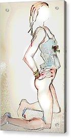 Little Miss Sunshine - Lingerie Acrylic Print