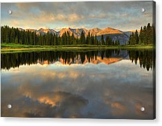 Little Molas Lake At Sunset Acrylic Print by Alan Vance Ley