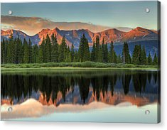 Little Molas Lake Sunset 2 Acrylic Print by Alan Vance Ley