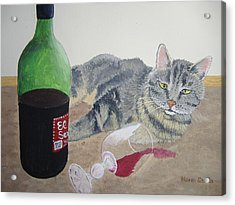 Little Ol' Wine Drinker Me Acrylic Print