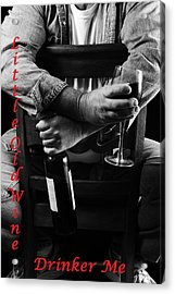 Little Old Wine Drinker Me Acrylic Print