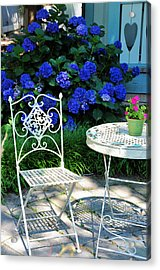 Little Patio Chair Acrylic Print by Jan Amiss Photography