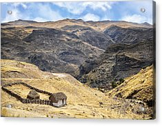 Little Peasant Hut In Mountains Acrylic Print