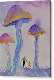 Little People Acrylic Print by Beverley Harper Tinsley