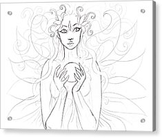 Little Piece Of The Universe Sketch Acrylic Print by Coriander  Shea