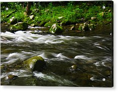 Acrylic Print featuring the photograph Little Piegon River Gatlinburg Tennessee by Jerome Lynch
