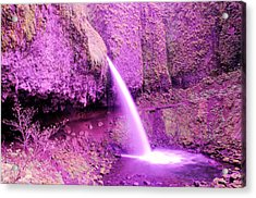 Little Pony Tail Falls  Acrylic Print by Jeff Swan