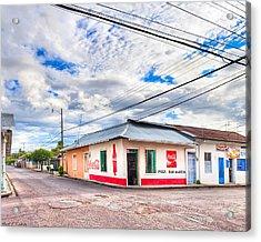 Little Pulperia On The Corner - Costa Rica Acrylic Print by Mark E Tisdale