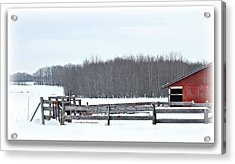 Little Red Barn Acrylic Print by Donna Brown