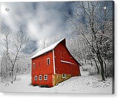 Little Red Barn Acrylic Print by Todd Klassy