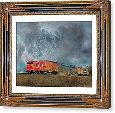 Little Red Caboose  Acrylic Print