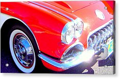 Little Red Corvette Acrylic Print by Don Struke