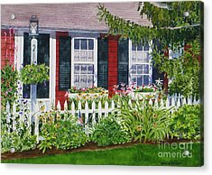 Little Red Cottage Acrylic Print by Karol Wyckoff