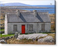 Acrylic Print featuring the photograph Little Red Door II by Suzanne Oesterling