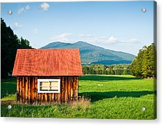 Little Red House Acrylic Print by Lee Costa