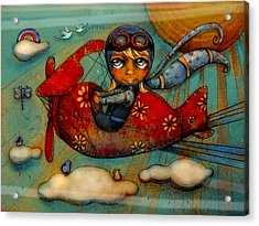 Little Red Plane Acrylic Print
