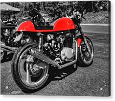 Little Red Racer 001 Acrylic Print by Lance Vaughn